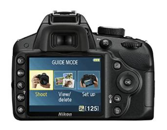 Nikon d3200 pantalla con guía