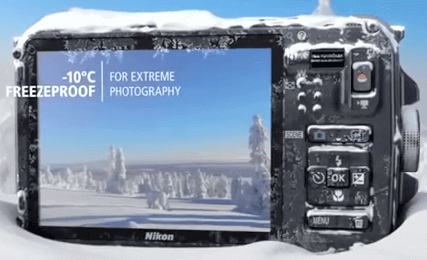 Nikon Coolpix aw110 temperatura