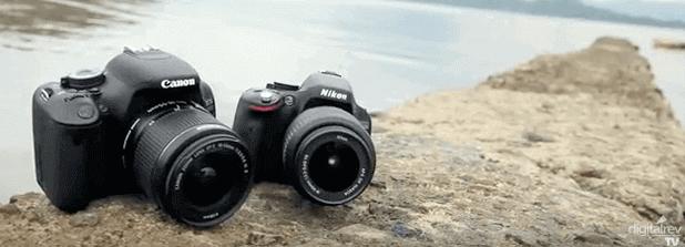 cámaras y objetivos Nikon y Canon