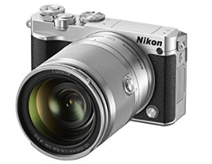 Cámara Nikon blanca 1 J5