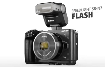 Nikon flash integrado cámara 1 v3