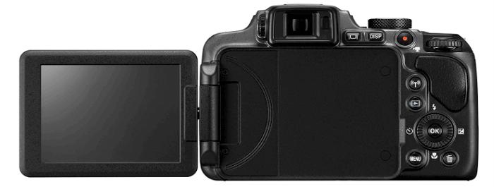 Cámara Nikon diseño pantalla p610