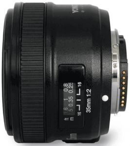 Yongnuo compatible Nikon objetivo 35 mm