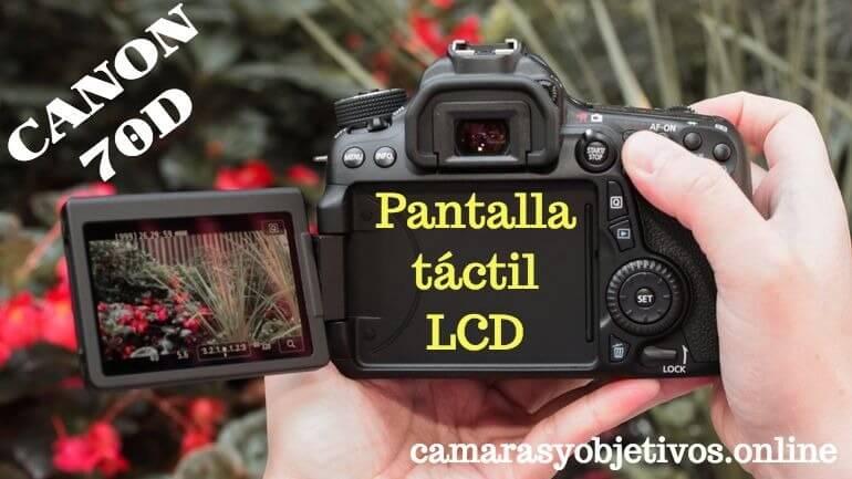 Canon pantalla 70d