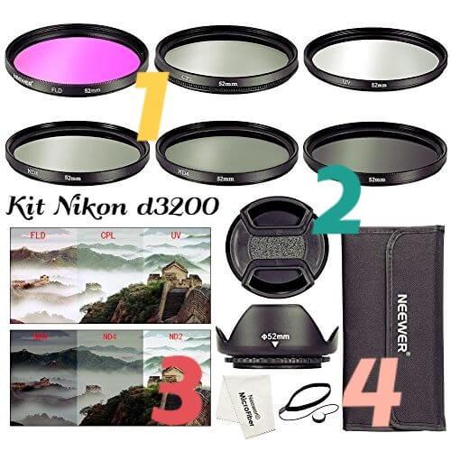 Nikon accesorios cámara d3200