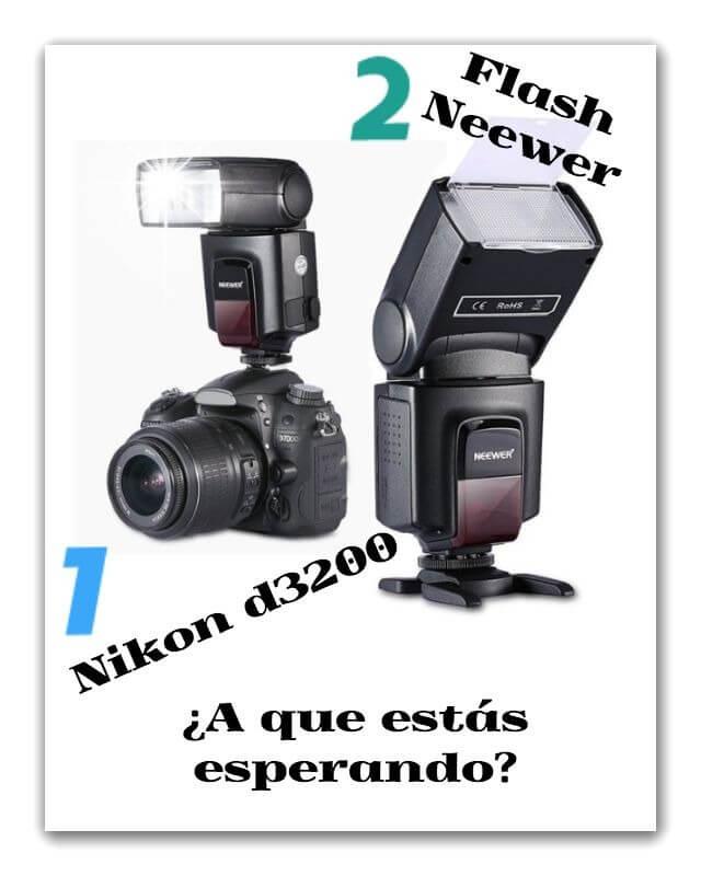 Para Nikon d3200 flash