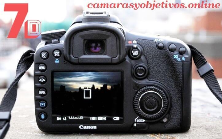 Canon pantalla cámara 7d