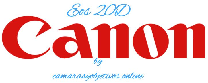 Canon cámara 20d logotipo