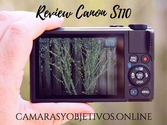 Canon pantalla s110