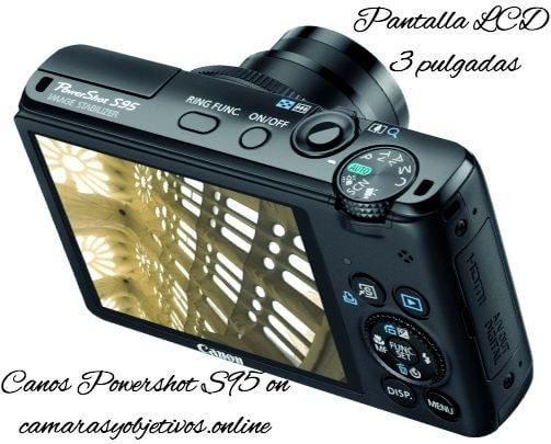 Canon pantalla cámara s95
