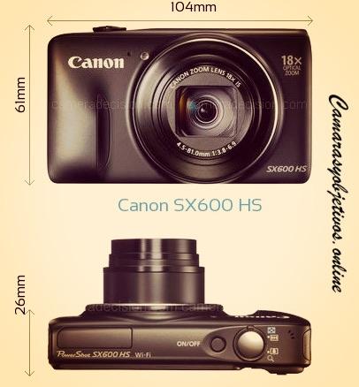 Dimensiones Canon Sx 600